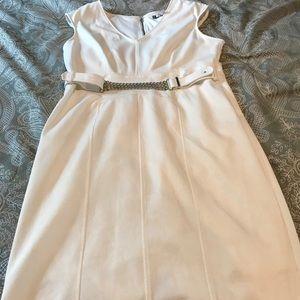 White A-Line Shift Dress